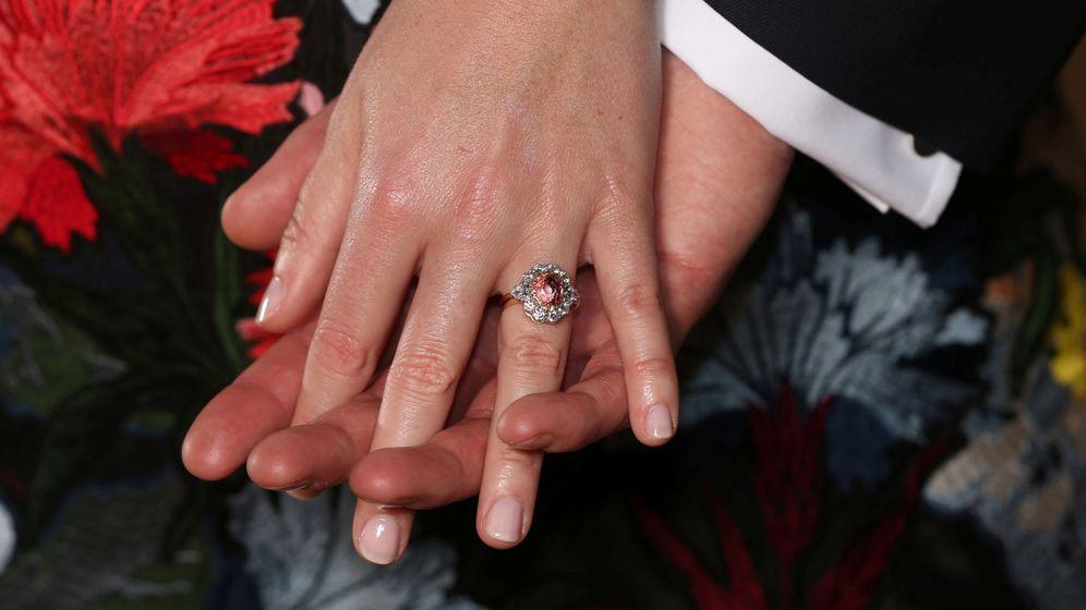 Foto: El anillo de compromiso de Eugenia de York. (Reuters)