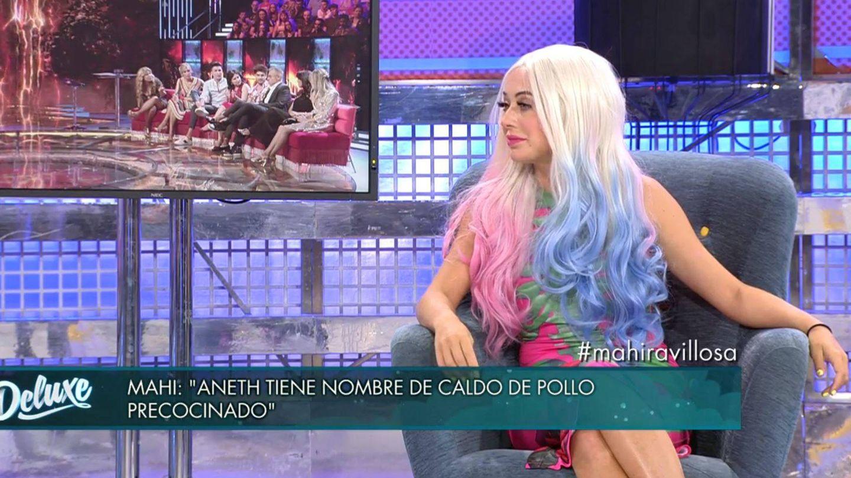 Mahi en 'Sábado deluxe'. (Mediaset España)