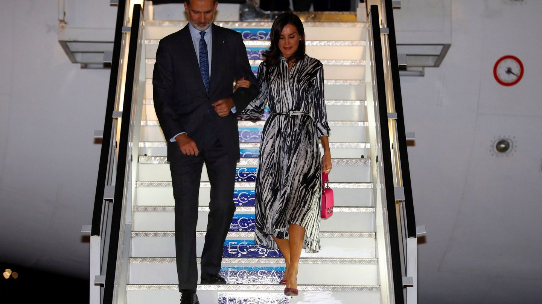 Los Reyes, a su llegada a La Habana. (EFE)