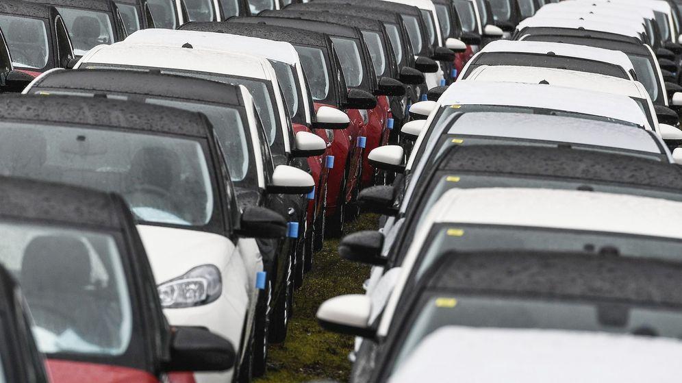Foto: Flota de coches de PSA en Alemania. (EFE)