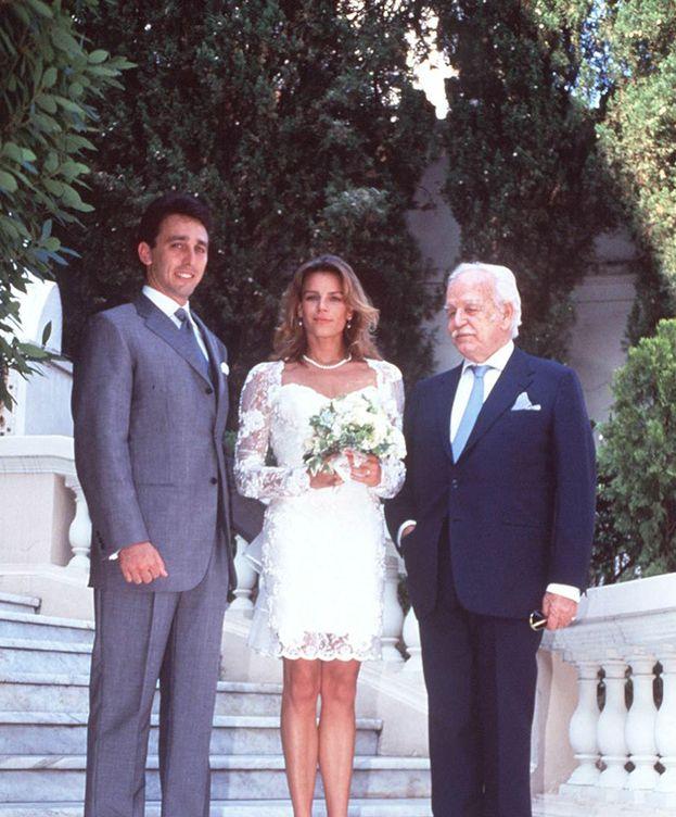 Foto: Daniel Ducruet, Estefanía y Rainiero el día de la boda (Gtres)