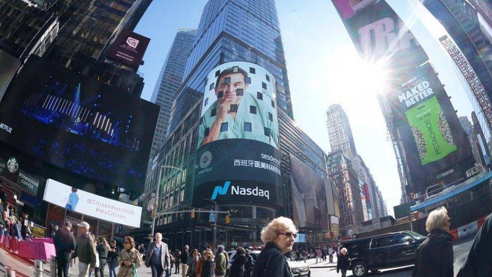 Foto: Imagen publicitaria de la empresa en Nueva York. (Sesderma)