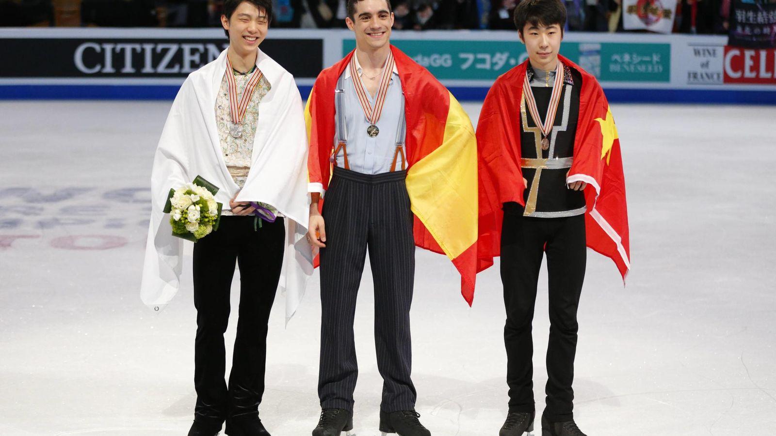 Foto: Javier Fernández superó al japonés Yuzuru Hanyu y al chino Boyang Jin (Imago)