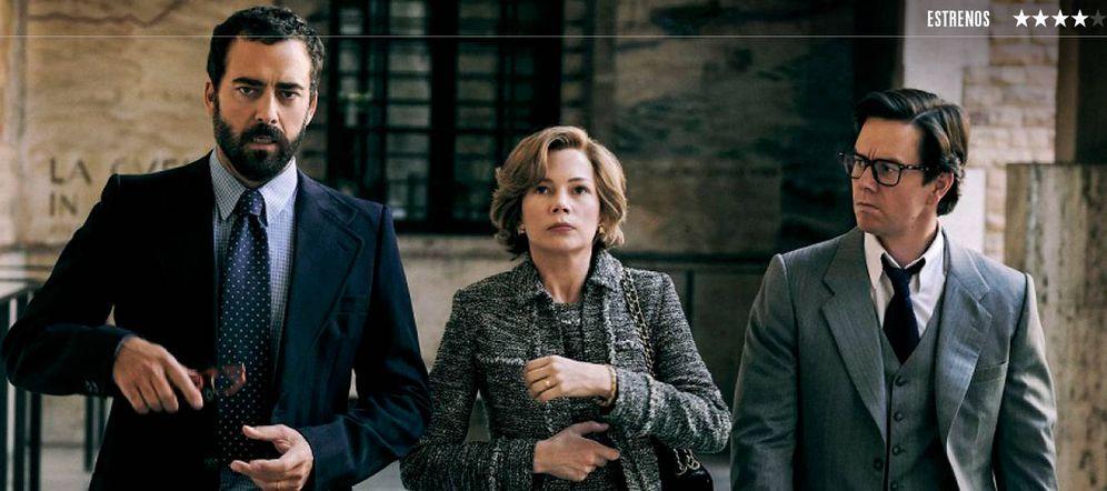 Foto: Michelle Williams y Mark Wahlberg protagonizan 'Todo el dinero del mundo'. (Diamond)