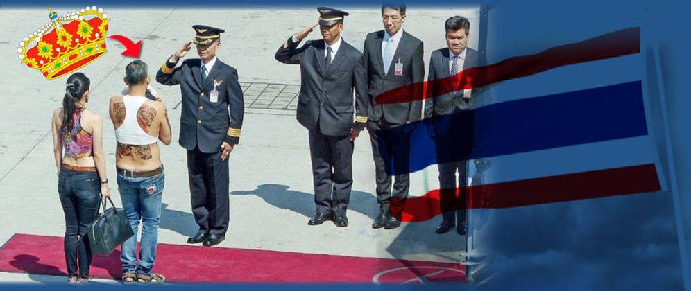 Foto: El nuevo rey de Tailandia en un montaje realizado por Vanitatis