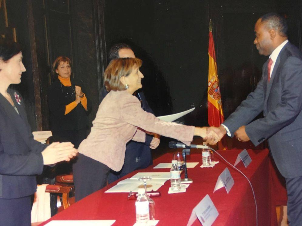 Foto: Imagen del día en que Néstor Nongo juró como funcionario.