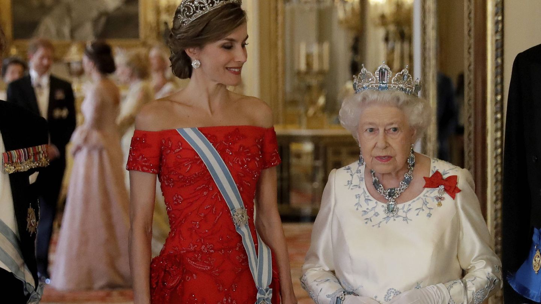Letizia Ortiz e Isabel II. (Getty)