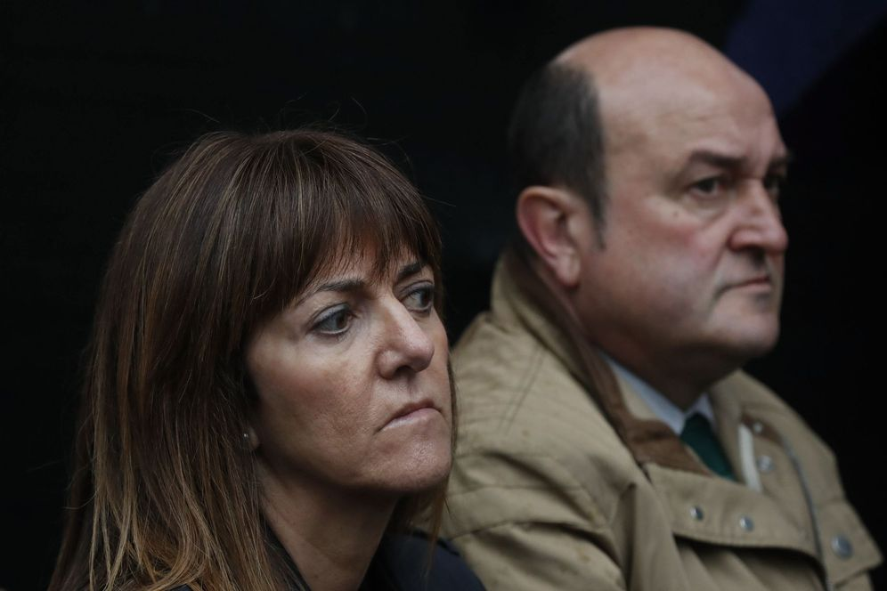 Foto: Andoni Ortuzar e idoia Mendia. (EFE)