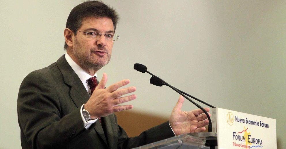 Foto: El ministro de Justicia, Rafael Català, durante una conferencia que ofreció en Barcelona (Efe)