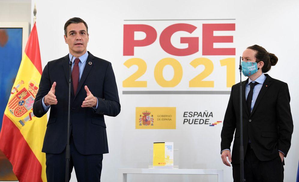 Foto: El presidente del Gobierno, Pedro Sánchez (i), y el vicepresidente segundo, Pablo Iglesias (d). (EFE)