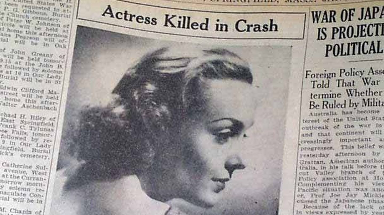 Titular sobre la muerte de Carole Lombard en 1942.