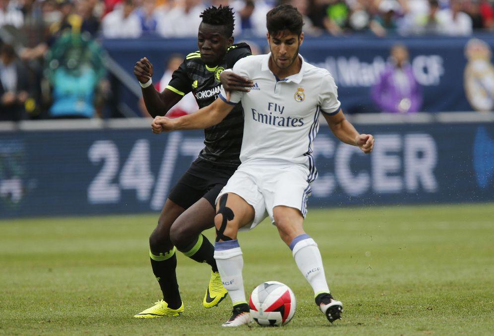 Foto: Marco Asensio, en el amistoso del Real Madrid contra el Chelsea. (Reuters)