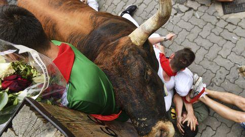 Octavo y último encierro de San Fermín: los Miura dejan trece heridos