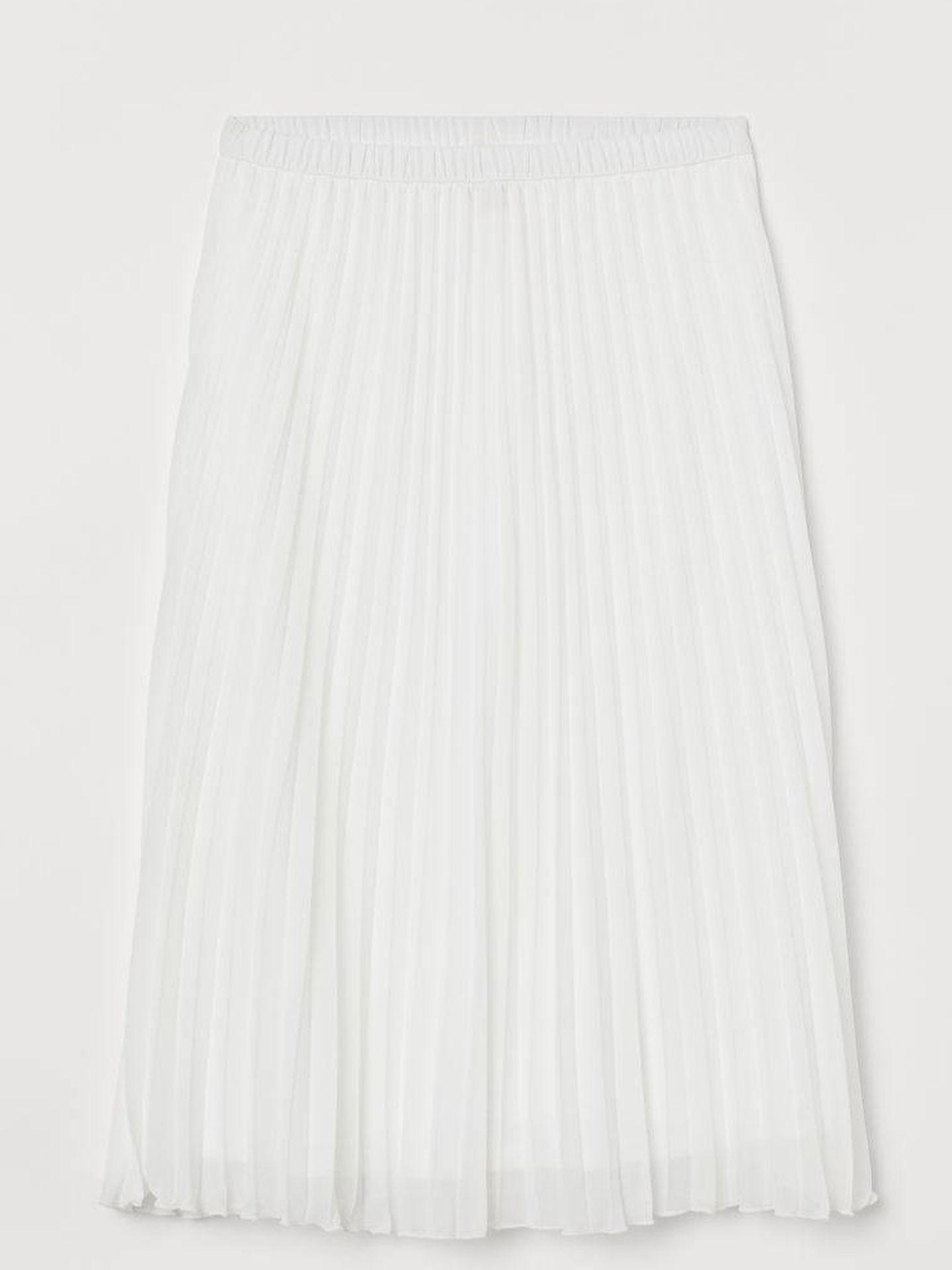 Falda plisada de HyM. (Cortesía)