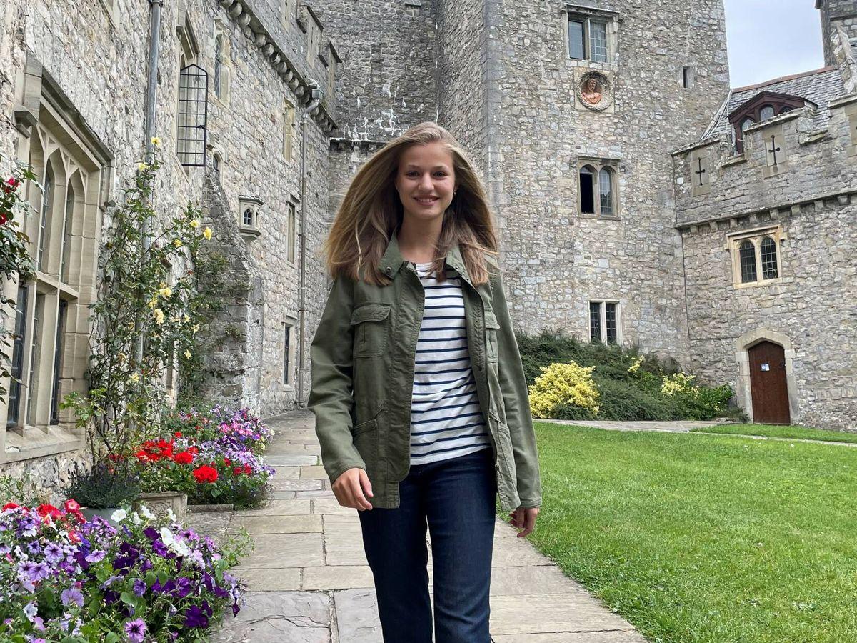 Foto: La princesa Leonor, en el UWC Atlantic College de Gales. (Casa de S. M. el Rey)