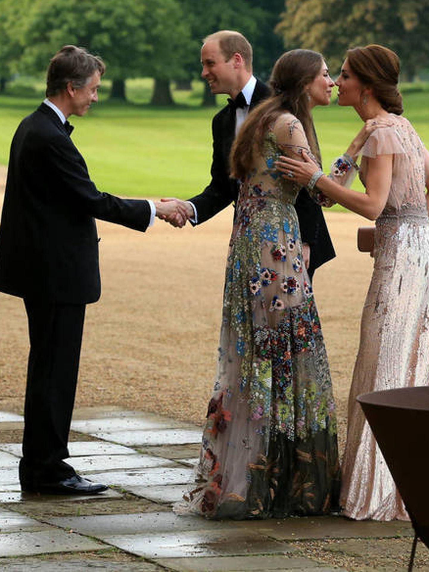Rose y su marido con los duques de Cambridge. (Getty)