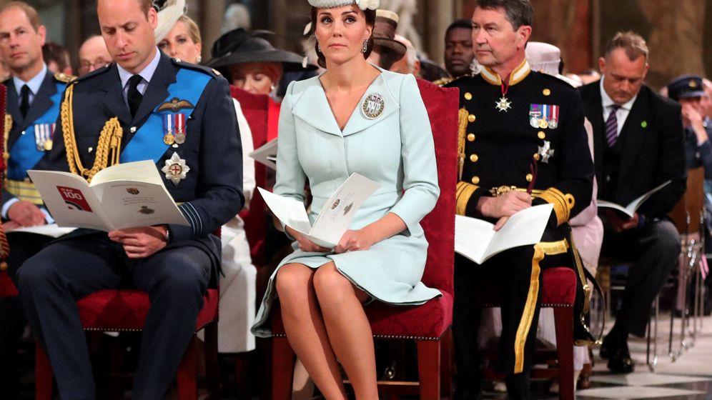 Foto: Kate, en una imagen el día de las Fuerzas Armadas Reales. (Getty)
