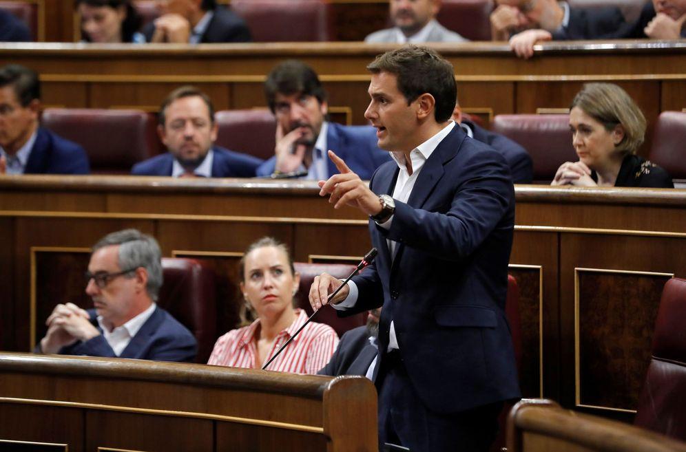Foto: Albert Rivera, durante la sesión de control al Gobierno de este 12 de septiembre en el Congreso. (EFE)