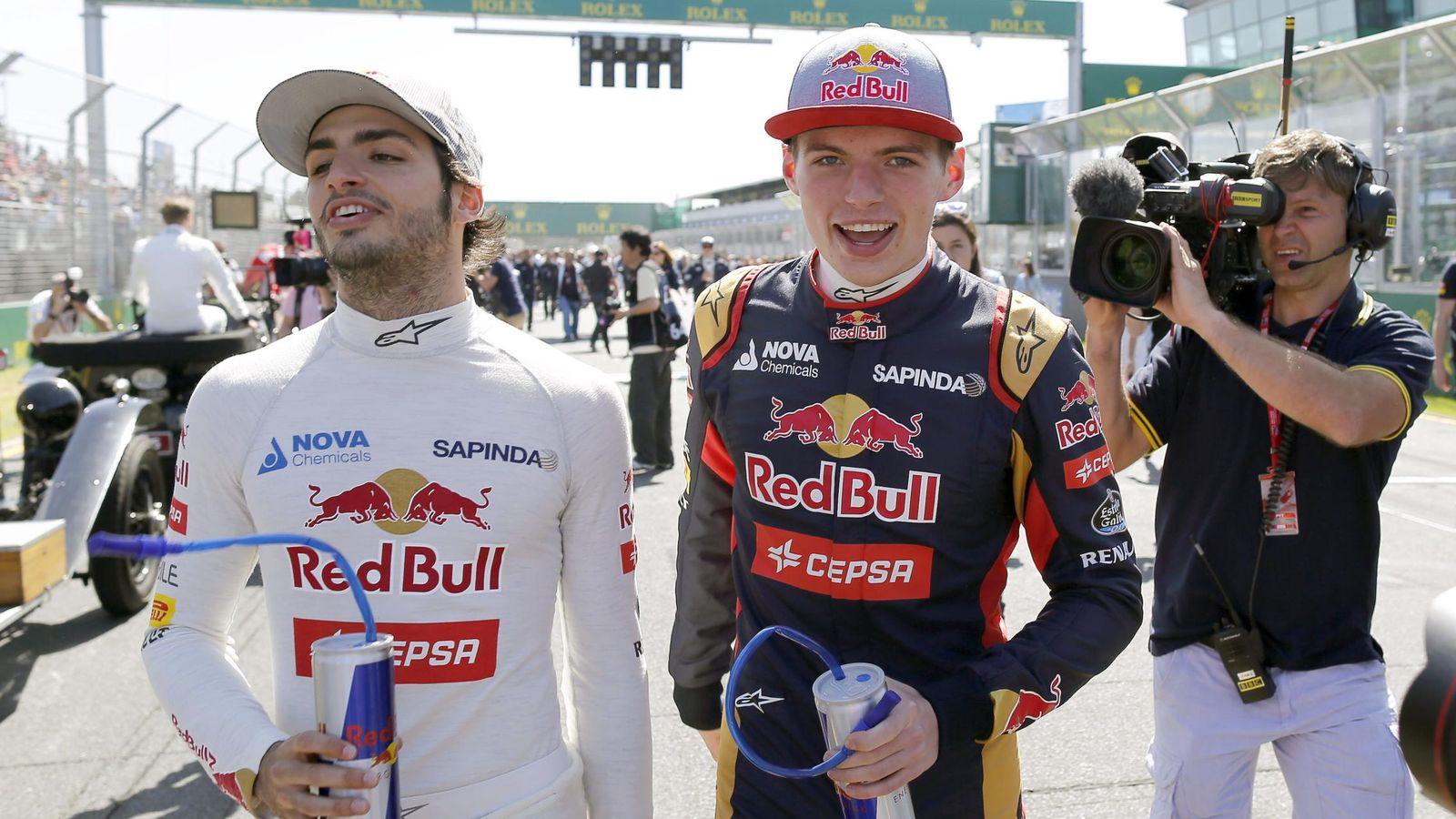 Foto: Sainz y Verstappen en su debut en la Fórmula 1 (Efe)