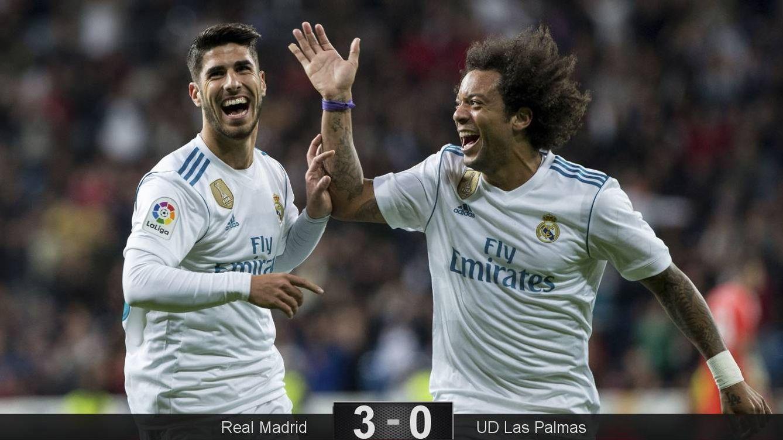 Foto: Asensio celebra su fantástico gol con Marcelo. (EFE)
