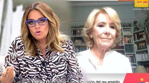 Pullas entre Toñi Moreno y Esperanza Aguirre a propósito del rey Juan Carlos