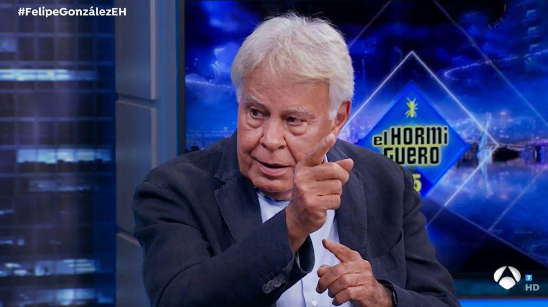Foto: Felipe González en el Hormiguero.