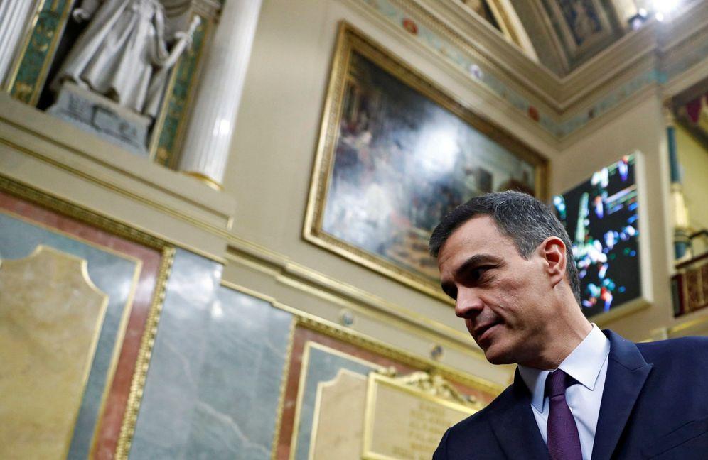 Foto: Pedro Sánchez, el pasado 12 de febrero en el Congreso, durante el debate de los Presupuestos del Estado de 2019. (Reuters)