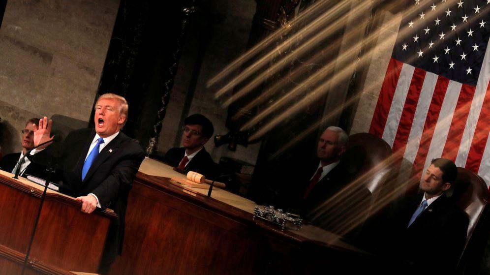 Foto: El presidente Donald Trump en el Capitolio, en enero de 2018. (Reuters)