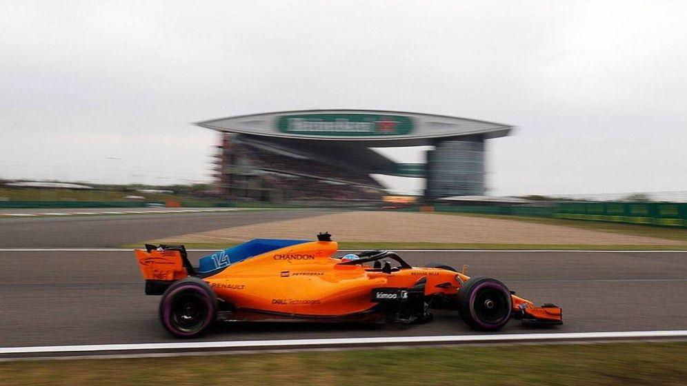 Foto: Fernando Alonso se quedó cerca de su objetivo de ser 11º en la clasificación. Acabó 13º. (McLaren F1)