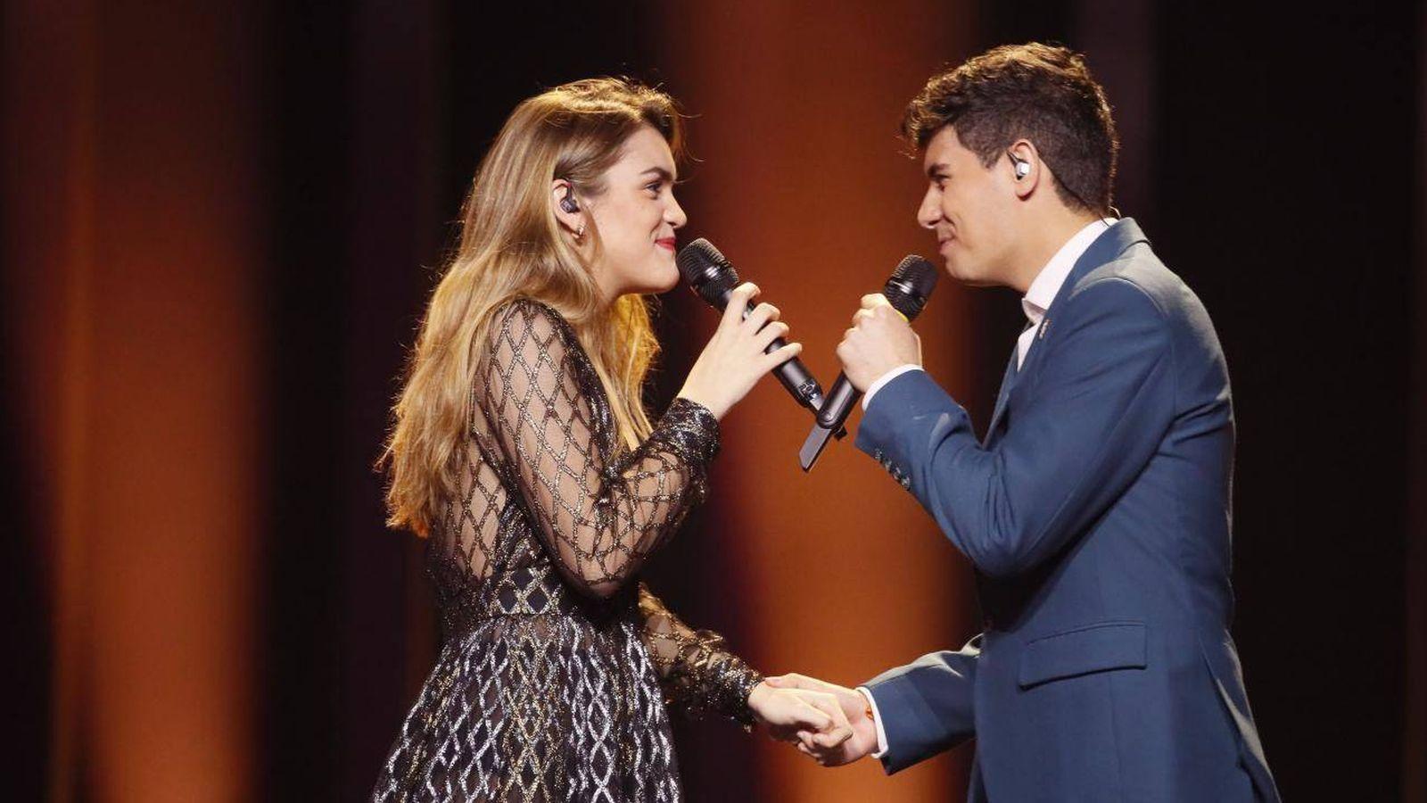 Foto:  Amaia y Alfred, en el segundo ensayo. (Eurovision.tv)