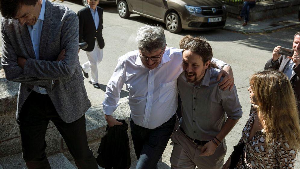 Foto: Pablo Iglesias y el presidente de La Francia Insumisa, Jean-Luc Mélenchon. (EFE)