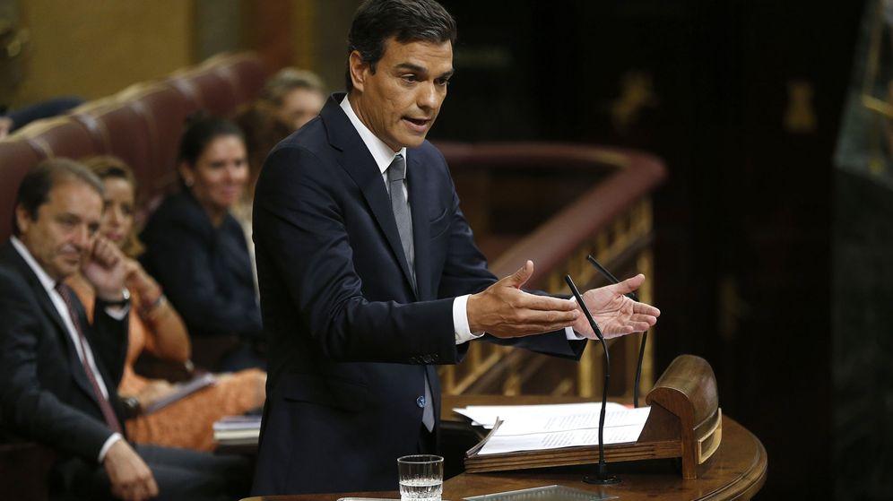 Foto: Pedro Sánchez, en la segunda sesión de investidura (EFE)