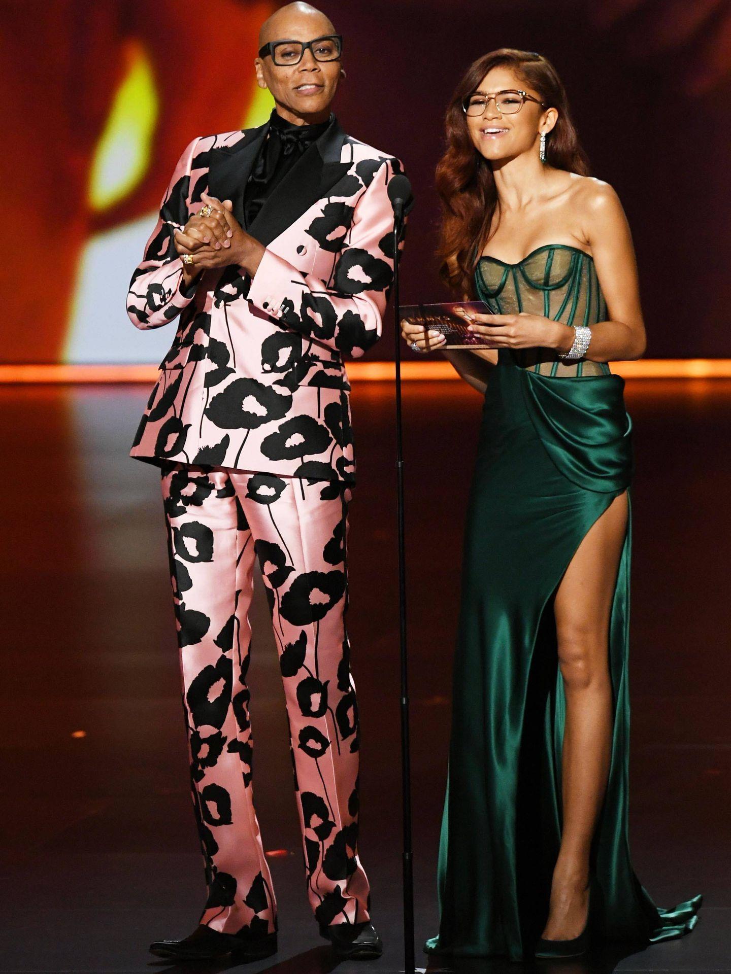 RuPaul y Zendaya. (Getty)