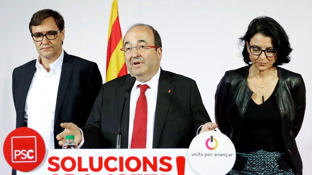 El PSC se queda en una raquítica subida y Sánchez suspende en su primer examen