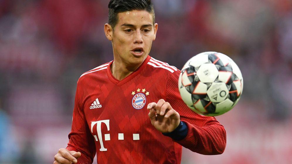 Foto: James Rodríguez, durante un partido con el Bayern de Múnich. (EFE)