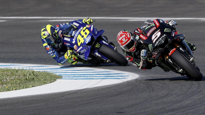 La mejor Yamaha de la temporada no es una del equipo oficial, sino la Tech 3 de Johann Zarco. (EFE)