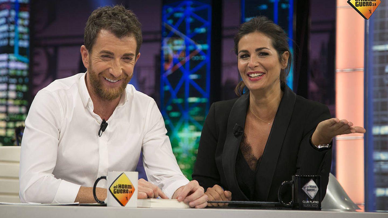 Pablo Motos y Nuria Roca en 'El Hormiguero'. (Antena 3)