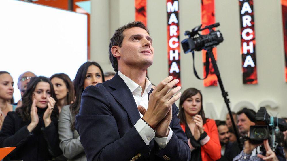 Foto: Albert Rivera durante la rueda de prensa de su dimisión. (EFE)