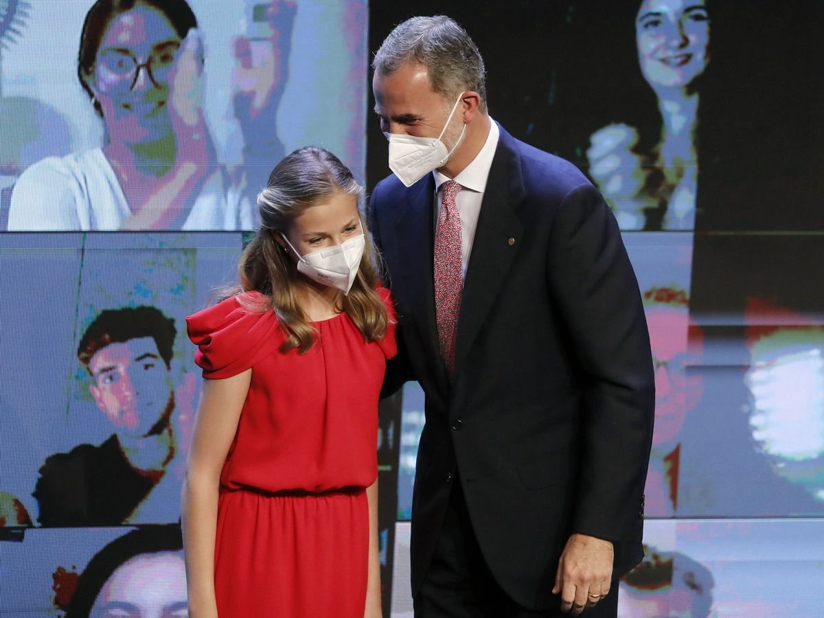 Foto: El Rey y la princesa Leonor, en los premios Princesa de Girona. (EFE)