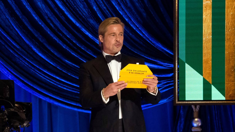 Brad Pitt, en los Oscar 2021. (Getty)