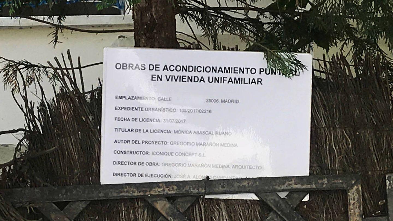 El expediente que figura en la fachada de la casa de Alonso Aznar Botella.