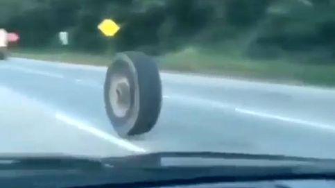Una rueda asesina estuvo a punto de provocar una tragedia en la autopista