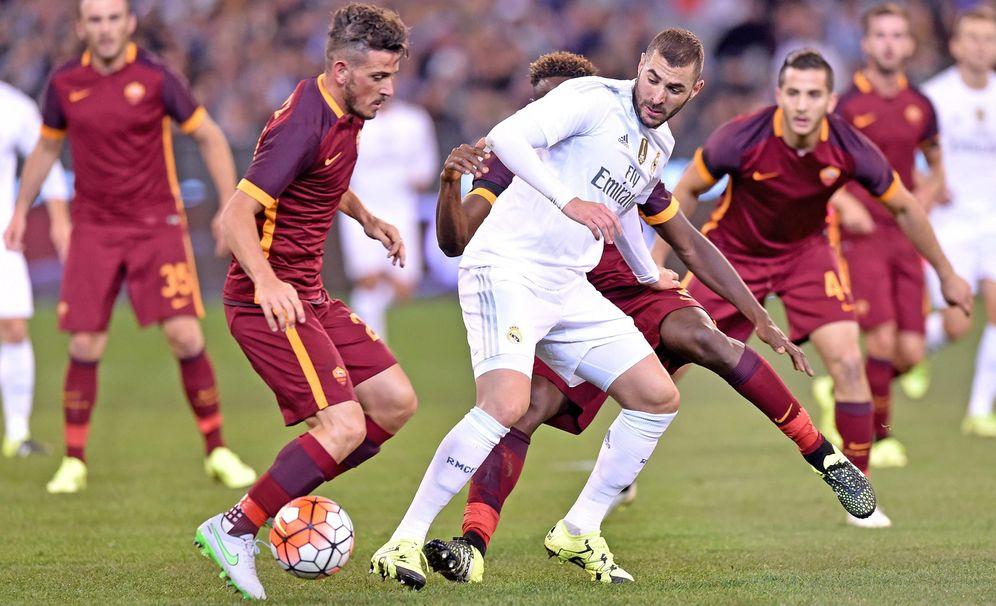 Foto: Benzema, en el amistoso del Real Madrid contra la Roma en Melbourne (EFE)