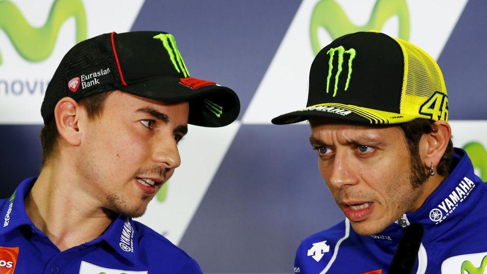 El último desplante de Rossi a Jorge Lorenzo (y las bonitas palabras que se lleva el viento)