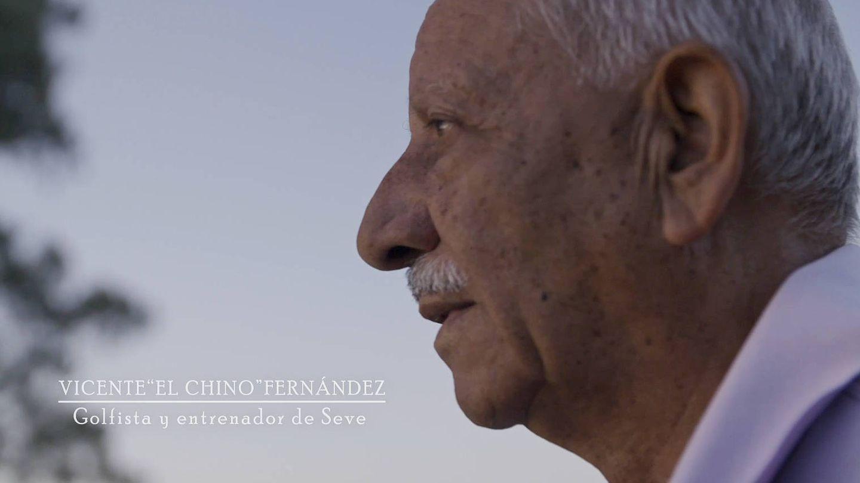 Vicente 'El Chino' Fernández, entrenador de Seve. (Amazon)