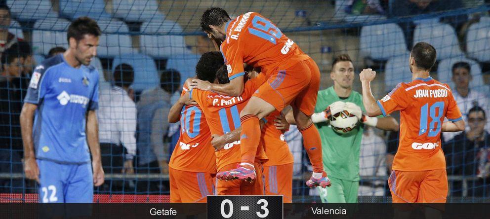 El Getafe no carbura sin Pedro León y sucumbe ante los encantos del Valencia