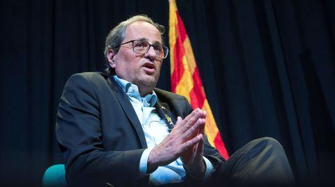 El TSJC sienta en el banquillo al 'president' Quim Torra por desobediencia con los lazos