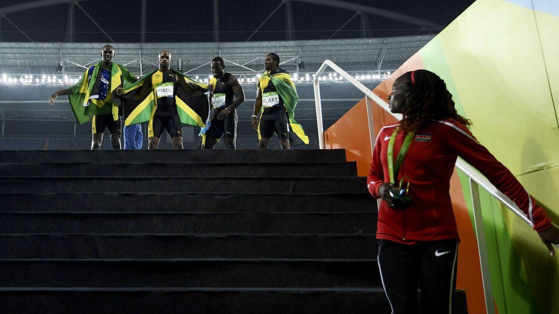 Foto: El 4x100 jamaicano que ganó el oro en Río de Janeiro (Dylan Martínez/Reuters)