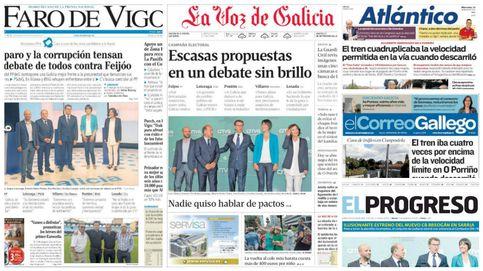 En imágenes: así informa la prensa gallega sobre las elecciones a la Xunta