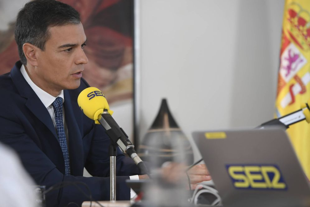 Foto: Pedro Sánchez, durante su entrevista este 15 de julio en la Moncloa con la Cadena SER. (Borja Puig de la Bellacasa | Moncloa)